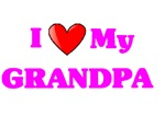I Love My Grandpa pink