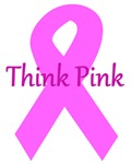 Think Pink pink ribbon