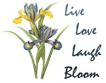 Iris Live Love Laugh Bloom