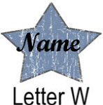 Blue Star names - Letter W