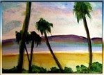 Palm trees, tropical beach