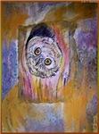 Owl, wildlife art