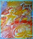 Primitive! Colorful, fun, art!