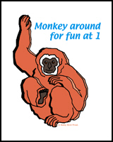 1st BIRTHDAY T-SHIRTS MONKEY