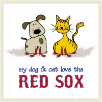 My Dog & Cat Love the Red Sox