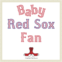 Red Gingham Baby Red Sox Fan