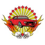 Flame Skull Car