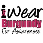 I Wear Burgundy For Awareness T-Shirts & Gifts