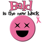 Bald is the New Black Breast Cancer T-Shirts
