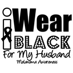 I Wear Black Ribbon For My Husband T-Shirts