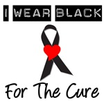 I Wear Black Ribbon For The Cure T-Shirts