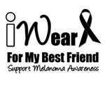 I Wear Black Ribbon For My Best Friend T-Shirts &