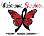 Melanoma Survivor Butterfly Shirts & Gifts
