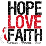Hope Love Faith Oral Cancer T-Shirts & Gifts