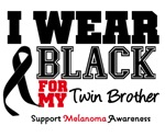 Melanoma I Wear Black For My Twin Brother Shirts