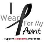 Melanoma I Wear Black For My Aunt Shirts & Gifts