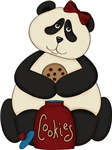 Panda Bear in Cookie Jar