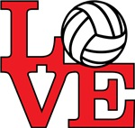 Volleyball Love - Red
