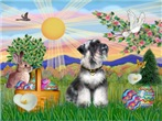 EASTER<br>& Minaiture Schnauzer (nat ears)#6