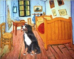 VAN GOGH'S ROOM<br>& Bernese Mountain Dog