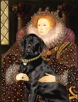 Queen Elizabeth I<With Black Lab 5