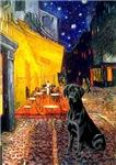 TERRACE CAFE<br>& Black Labrador Retriever