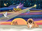 CHRISTMAS STAR<br>& red Pekingese #1