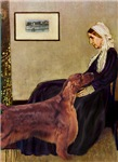 WHISTLER'S MOTHER<br>& Irish Setter