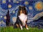 STARRY NIGHT<br>& Shetland Sheepdog (tri)