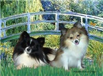 LILY POND BRIDGE<br> & 2 Pomeranians