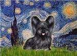 STARRY NIGHT<br>With a Black Skye Terrier (#4)