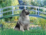 LILY POND BRIDGE<br>& Keeshond