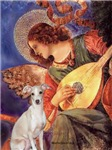 ANGEL WITH MANDOLIN<br> & Italian Greyhound