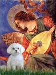 ANGEL WITH MANDOLIN<br>& Maltese
