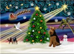 CHRISTMAS MAGIC<br> & Welsh Terrier