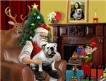 SANTA AT HOME<br>& English Bulldog
