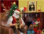 SANTA AT HOME<br>& Border Terrier