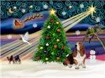 CHRISTMAS MAGIC<br>& Basset Hound