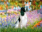GARDEN AT GIVERNY <br>& English Springer (BW)
