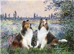 BY THE SEINE<br>& Two Shetland Sheepdogs