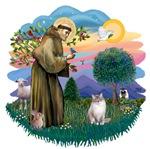St. Francis (ff) with<br>a Ragdoll Cat (Lynx Pt)