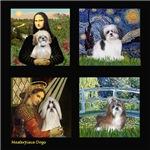 Famous Art Composite - Shih Tzus