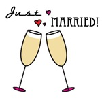 Champagne Toast Just Married Gifts