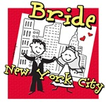new york city bride t-shirts