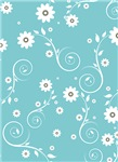 Teal Floral Jewelry and Gifts