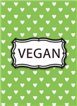 Vegan Jewelry, Charms, Gifts - Green White Hearts