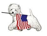 Patriotic Westie