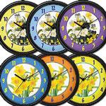 Floral Home Decor Wall Clocks
