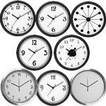 Black and White Wall Clocks Modern or Retro