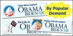 Alaskan Animals Bumper Stickers